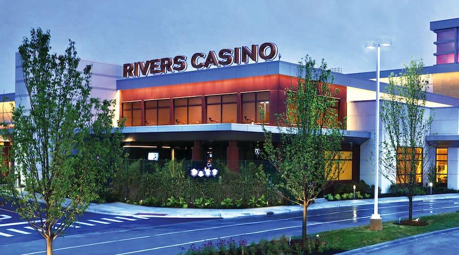 devant du casino rivers casino des plaines